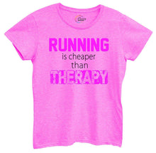 Womens Running Is Cheaper Then Therapy Tshirt Small Womens Tank Tops Hot Pink Tshirt