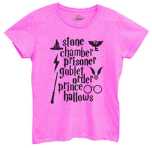 Womens Stone Chamber Prisoner Goblet Order Prince Hallows Tshirt Small Womens Tank Tops Hot Pink Tshirt