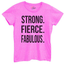 Womens Strong, Fierce, Fabulous. Tshirt Small Womens Tank Tops Hot Pink Tshirt