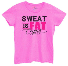 Womens Sweat Is Fat Crying Tshirt Small Womens Tank Tops Hot Pink Tshirt