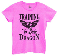 Womens Training To Ride Dragon Tshirt Small Womens Tank Tops Hot Pink Tshirt