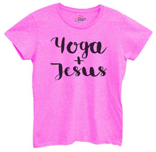 Womens Yoga And Jesus Tshirt Small Womens Tank Tops Hot Pink Tshirt