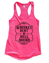 WHISKEY BENT & HELL BOUND Womens Workout Tank Top Small Womens Tank Tops Hot Pink