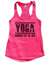 YOGA NAMAST'AY IN BED Womens Workout Tank Top Small Womens Tank Tops Hot Pink