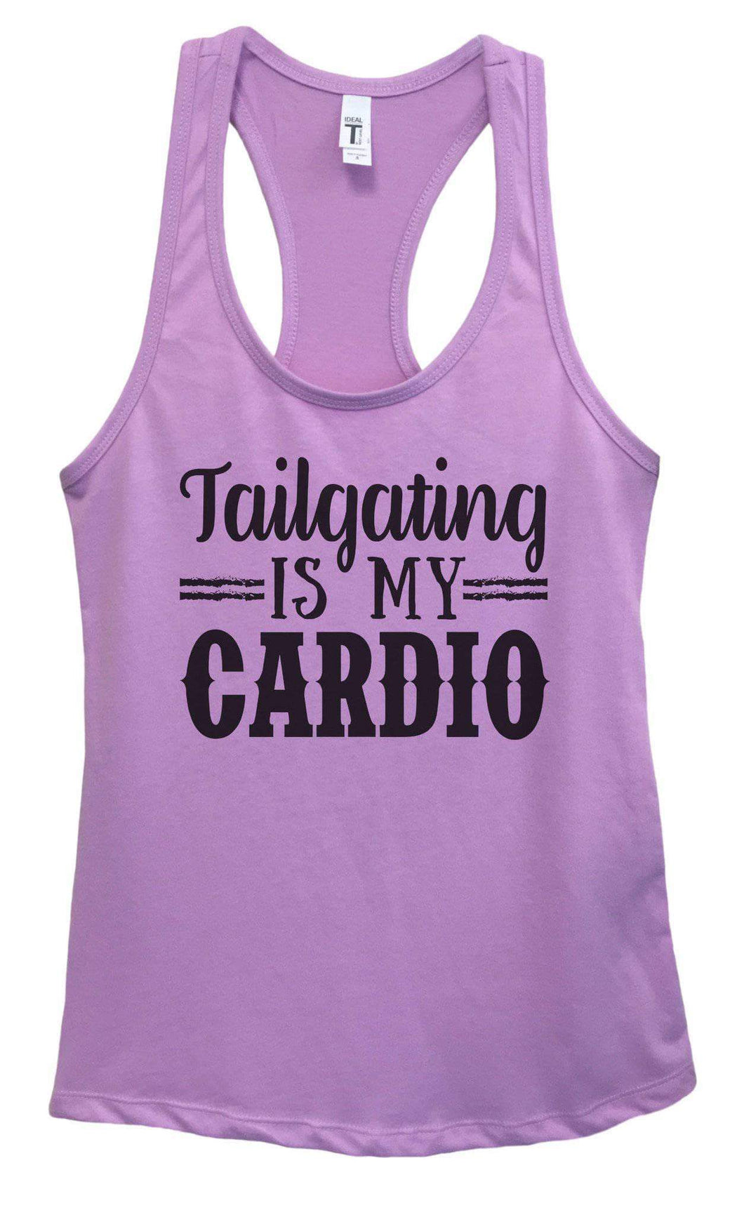Womens Tailgating Is My Cardio Grapahic Design Fitted Tank Top Small Womens Tank Tops Lavender