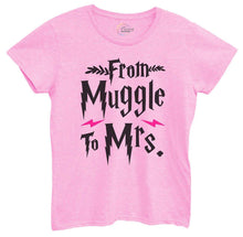 Womens From Muggle To Mrs Tshirt Small Womens Tank Tops Light Pink Tshirt
