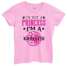 Womens I'm Not A Princess I'm A Khaleesi Tshirt Small Womens Tank Tops Light Pink Tshirt