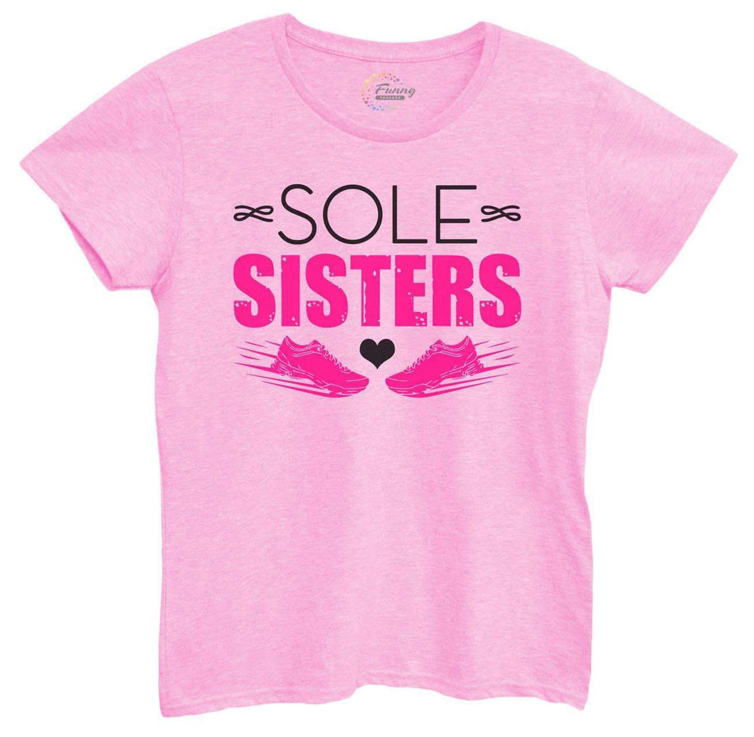 Womens Sole Sister Tshirt Small Womens Tank Tops Light Pink Tshirt