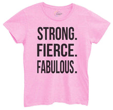 Womens Strong, Fierce, Fabulous. Tshirt Small Womens Tank Tops Light Pink Tshirt