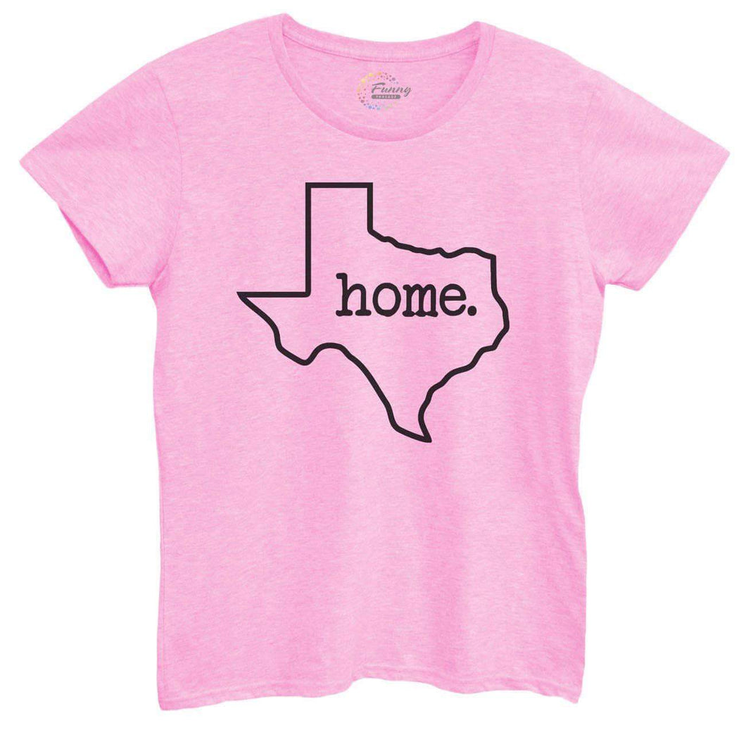 Womens Texas Home Tshirt Small Womens Tank Tops Light Pink Tshirt