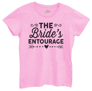 Womens The Bride's Entourage Tshirt Small Womens Tank Tops Light Pink Tshirt