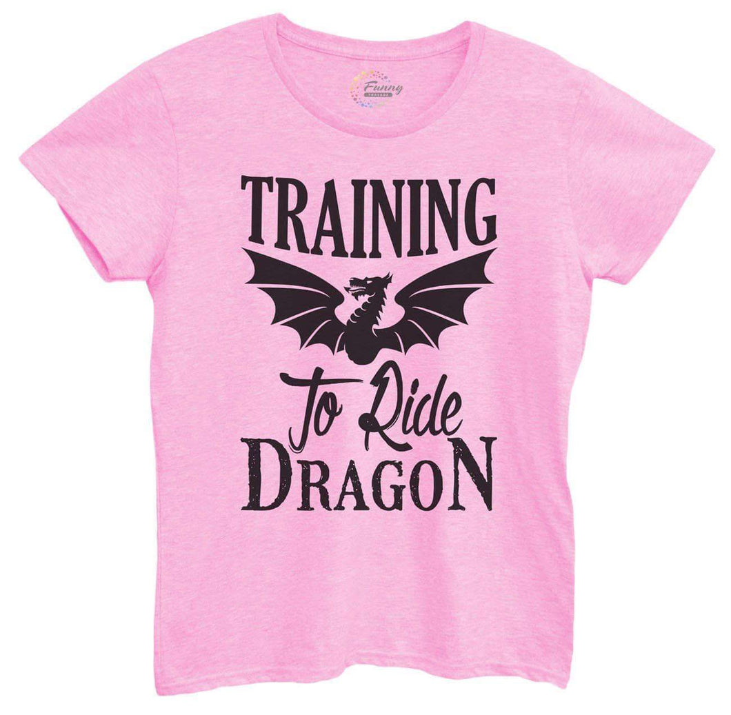 Womens Training To Ride Dragon Tshirt Small Womens Tank Tops Light Pink Tshirt