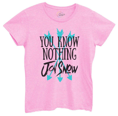 Womens You Know Nothing Jon Snow Tshirt Small Womens Tank Tops Light Pink Tshirt