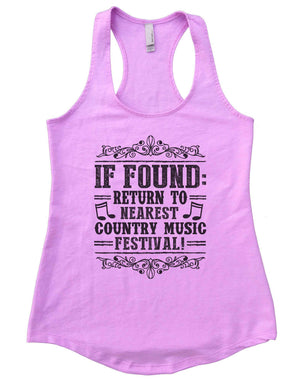 If Found Return To Nearest Country Music Festival Womens Workout Tank Top Small Womens Tank Tops Lilac
