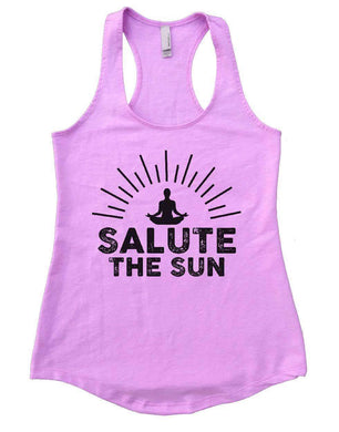 SALUTE THE SUN Womens Workout Tank Top Small Womens Tank Tops Lilac