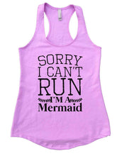 SORRY I CAN'T RUN I'M A Mermaid Womens Workout Tank Top Small Womens Tank Tops Lilac