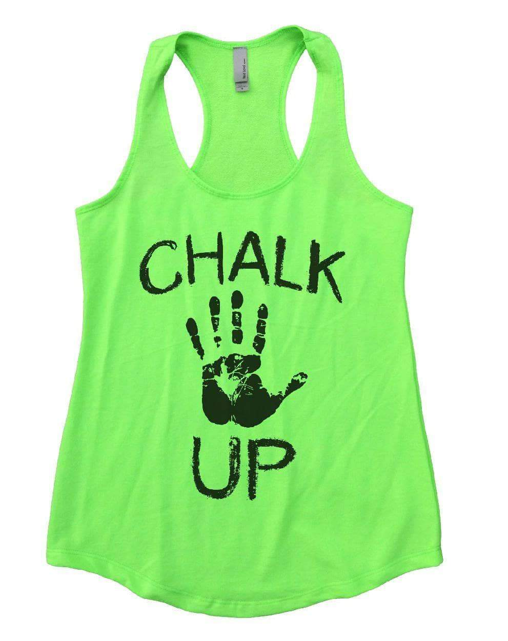 CHALK UP Womens Workout Tank Top Small Womens Tank Tops Neon Green