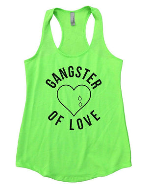 GANGSTER OF LOVE Womens Workout Tank Top Small Womens Tank Tops Neon Green