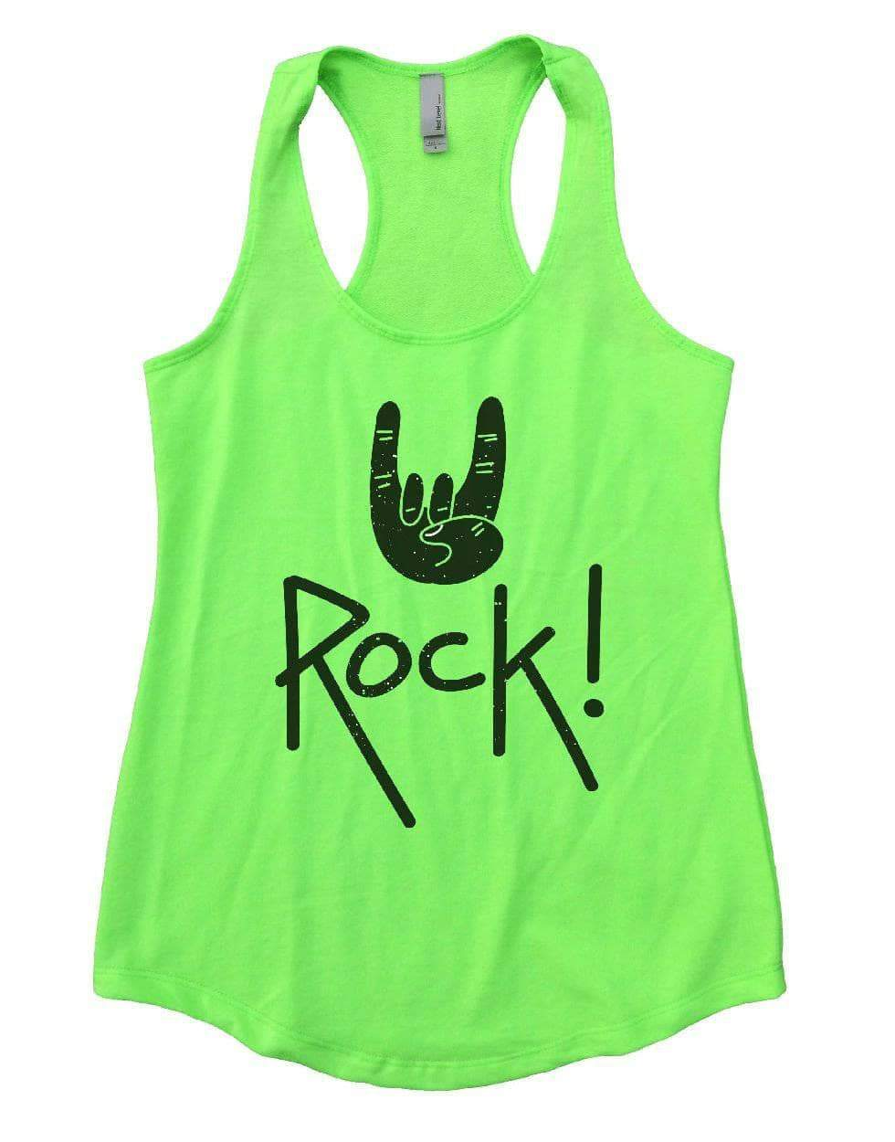 Rock On Womens Workout Tank Top Small Womens Tank Tops Neon Green