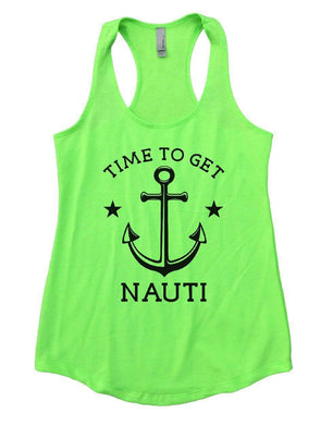 TIME TO GET NAUTI Womens Workout Tank Top Small Womens Tank Tops Neon Green