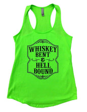 WHISKEY BENT & HELL BOUND Womens Workout Tank Top Small Womens Tank Tops Neon Green