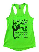 YOGA AND COFFEE Womens Workout Tank Top Small Womens Tank Tops Neon Green