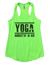 YOGA NAMAST'AY IN BED Womens Workout Tank Top Small Womens Tank Tops Neon Green