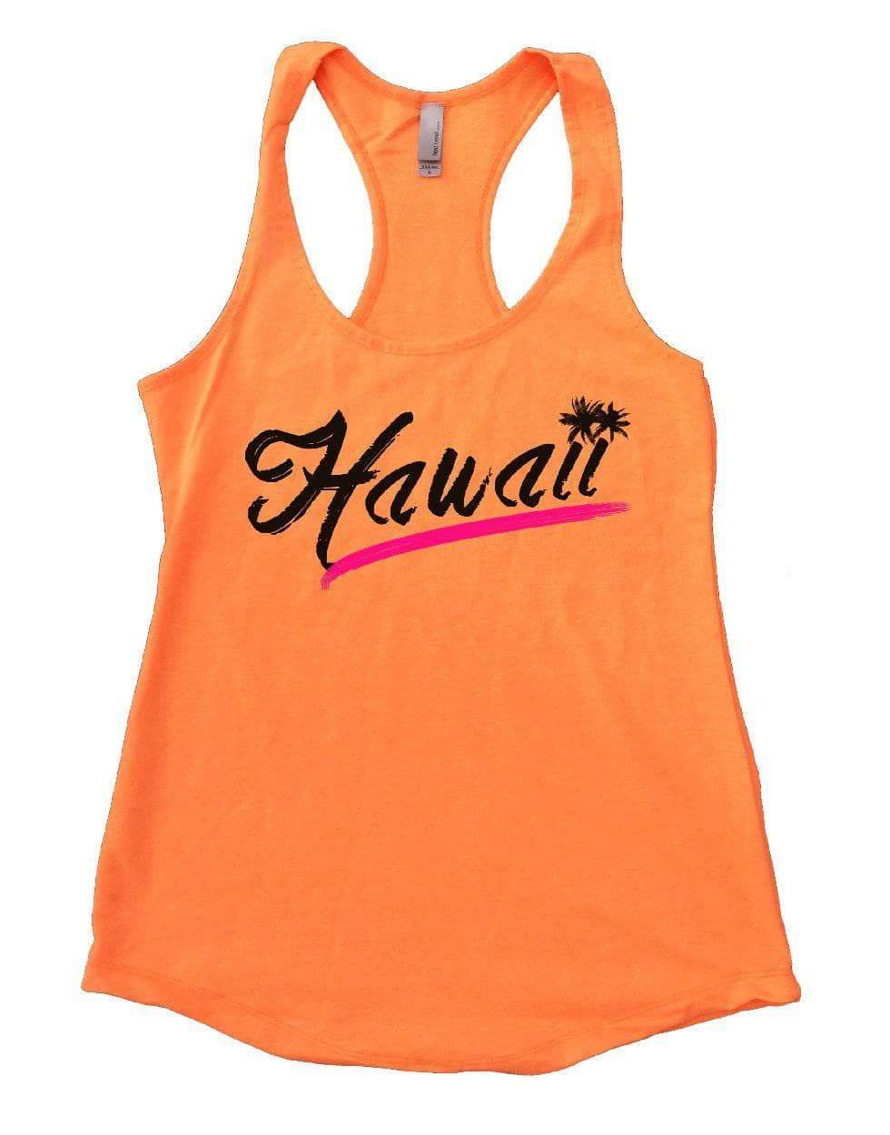 Hawaii Womens Workout Tank Top Small Womens Tank Tops Neon Orange
