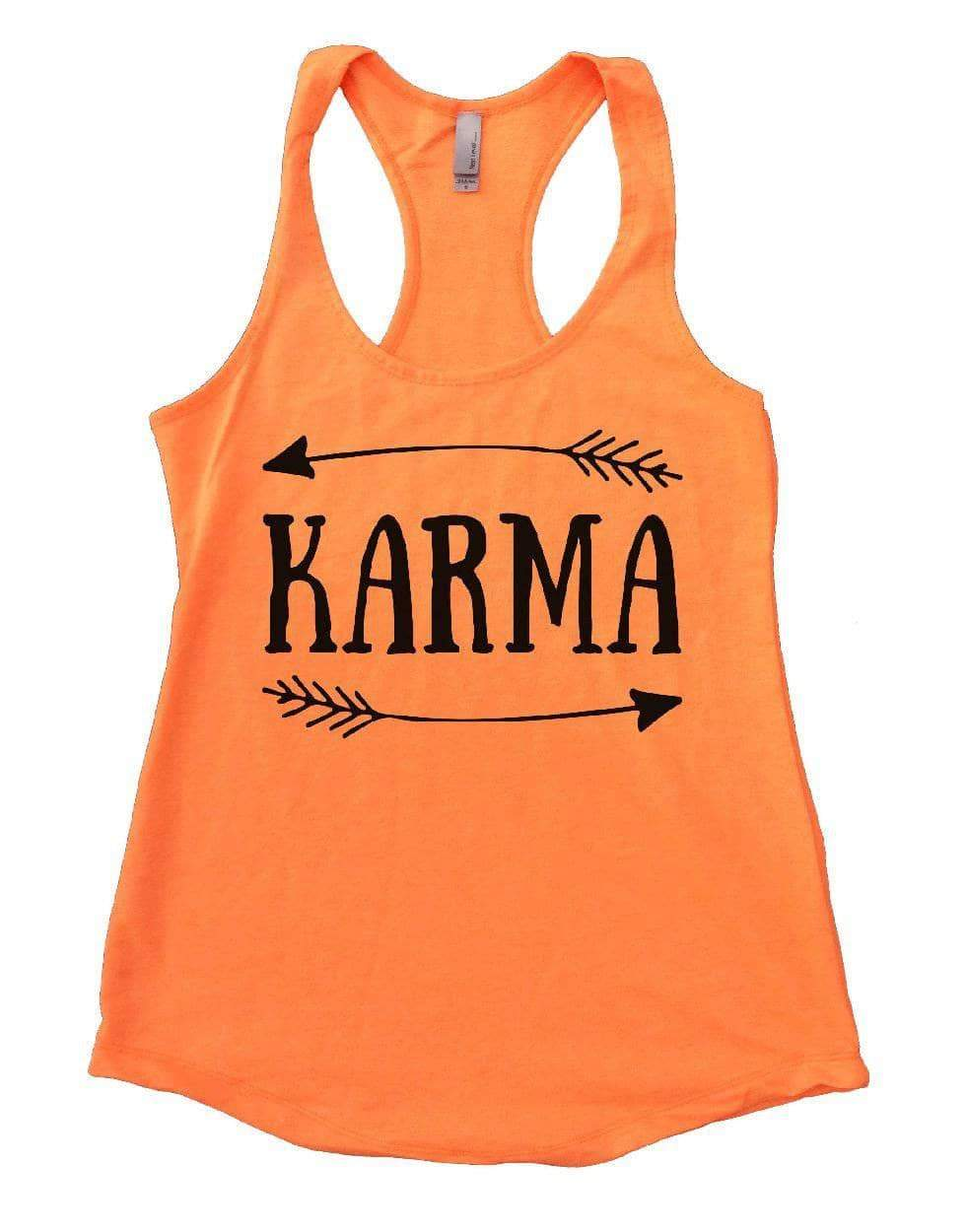 KARMA Womens Workout Tank Top Small Womens Tank Tops Neon Orange