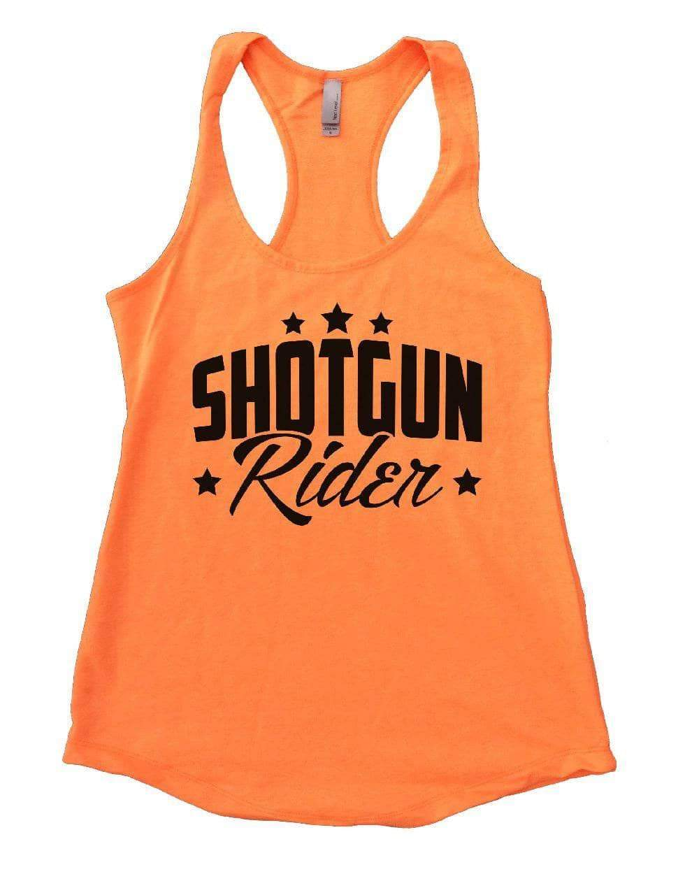 SHOTGUN Rider Womens Workout Tank Top Small Womens Tank Tops Neon Orange