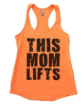 THIS MOM LIFTS Womens Workout Tank Top Small Womens Tank Tops Neon Orange