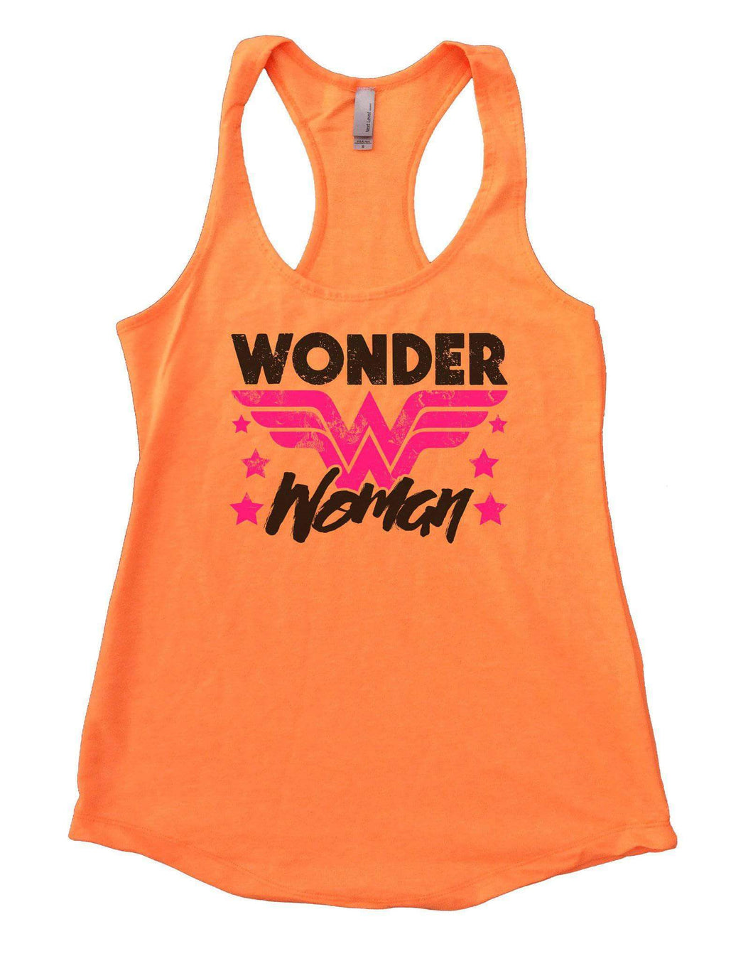 Wonder Woman Womens Workout Tank Top Small Womens Tank Tops Neon Orange