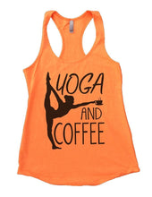 YOGA AND COFFEE Womens Workout Tank Top Small Womens Tank Tops Neon Orange
