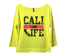 Cali Life Womens 3/4 Long Sleeve Vintage Raw Edge Shirt Small Womens Tank Tops Neon Yellow