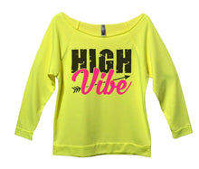 High Vibe Womens 3/4 Long Sleeve Vintage Raw Edge Shirt Small Womens Tank Tops Neon Yellow