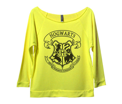 Hogwart Womens 3/4 Long Sleeve Vintage Raw Edge Shirt Small Womens Tank Tops Neon Yellow