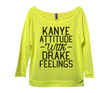 Kanye Attitude With Drake Feelings Womens 3/4 Long Sleeve Vintage Raw Edge Shirt Small Womens Tank Tops Neon Yellow