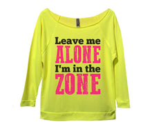 Leave Me Alone I'm In The Zone Womens 3/4 Long Sleeve Vintage Raw Edge Shirt Small Womens Tank Tops Neon Yellow