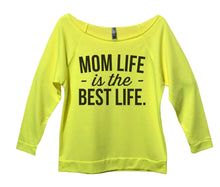 Mom Life Is The Best Life Womens 3/4 Long Sleeve Vintage Raw Edge Shirt Small Womens Tank Tops Neon Yellow