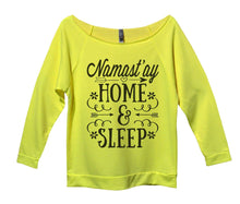 Namast'ay Home And Sleep Womens 3/4 Long Sleeve Vintage Raw Edge Shirt Small Womens Tank Tops Neon Yellow