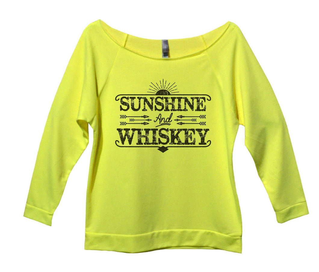 Sunshine And Whiskey Womens 3/4 Long Sleeve Vintage Raw Edge Shirt Small Womens Tank Tops Neon Yellow