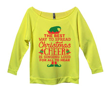 The Best Way To Spread Christmas Cheer Is Singing Loud For All To Hear Womens 3/4 Long Sleeve Vintage Raw Edge Shirt Small Womens Tank Tops Neon Yellow