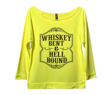 Whiskey Bent And Hellbound Womens 3/4 Long Sleeve Vintage Raw Edge Shirt Small Womens Tank Tops Neon Yellow