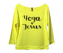 Yoga And Jesus Womens 3/4 Long Sleeve Vintage Raw Edge Shirt Small Womens Tank Tops Neon Yellow