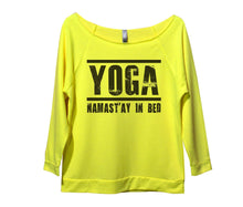 Yoga Namast'ay In Bed Womens 3/4 Long Sleeve Vintage Raw Edge Shirt Small Womens Tank Tops Neon Yellow