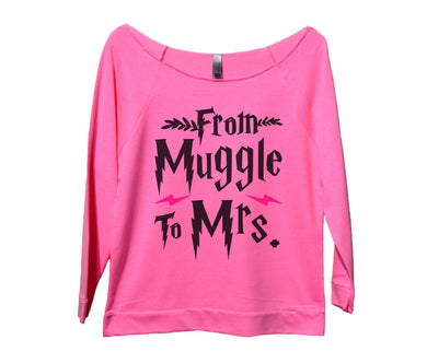From Muggle To Mrs Womens 3/4 Long Sleeve Vintage Raw Edge Shirt Small Womens Tank Tops Pink