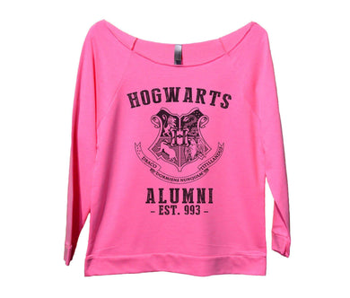 Hogwarts Alumni Womens 3/4 Long Sleeve Vintage Raw Edge Shirt Small Womens Tank Tops Pink