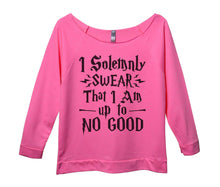 I Solemnly Swear That I Am Up To No Good Womens 3/4 Long Sleeve Vintage Raw Edge Shirt Small Womens Tank Tops Pink