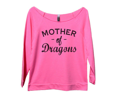 Mother Of Dragons Womens 3/4 Long Sleeve Vintage Raw Edge Shirt Small Womens Tank Tops Pink