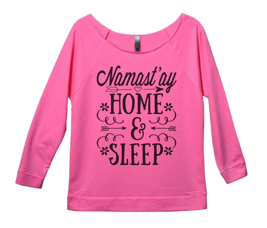 Namast'ay Home And Sleep Womens 3/4 Long Sleeve Vintage Raw Edge Shirt Small Womens Tank Tops Pink